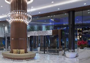New hotel lobby and entrance