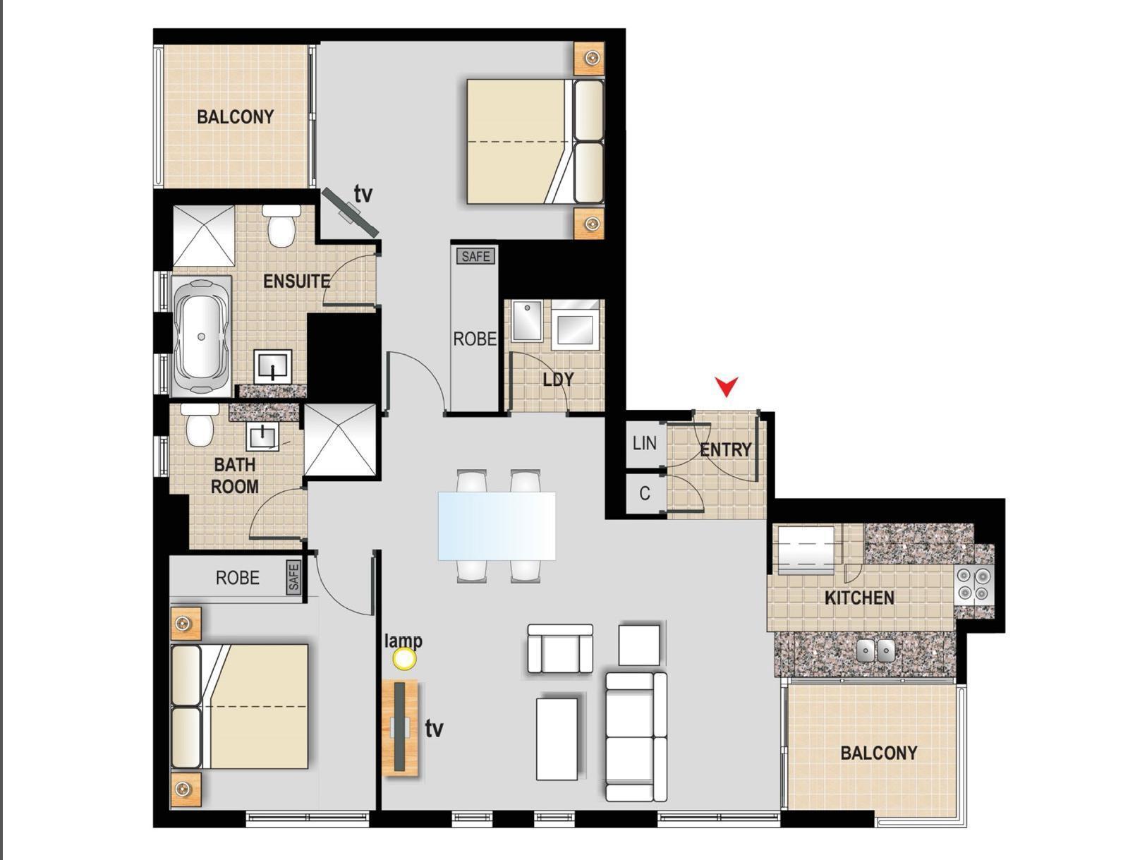 Australia Hotel Accommodation Cheap   Floor Plans