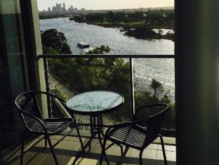 Swan Riverside Luxury Apartment Perth - morning coffee on balcony