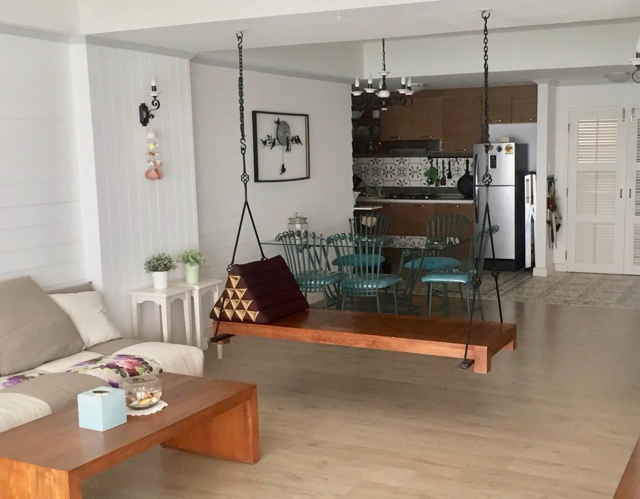อพาร์ตเมนต์ 1 ห้องนอน 1 ห้องน้ำส่วนตัว ขนาด 100 ตร.ม. – หาดเจ้าสำราญ