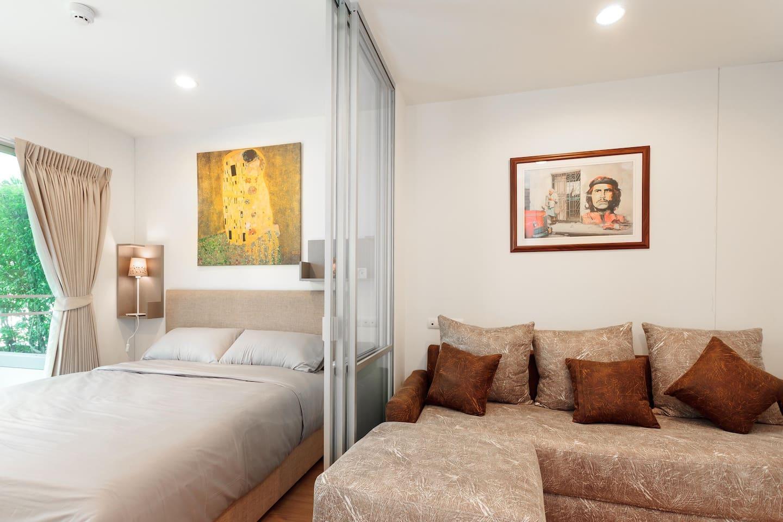 อพาร์ตเมนต์ 1 ห้องนอน 1 ห้องน้ำส่วนตัว ขนาด 31 ตร.ม. – บางนา