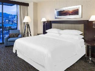 Front view of Sheraton Salt Lake City Hotel