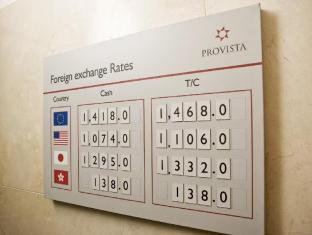 Provista Hotel Gangnam Seoul - Front Exchange Rate Board