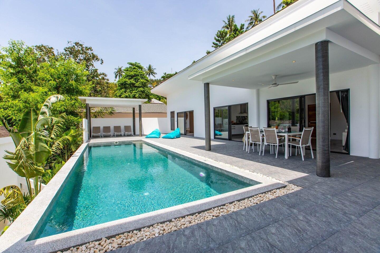Villa Nirvana Close to the beach, Chaweng Noi วิลลา 3 ห้องนอน 2 ห้องน้ำส่วนตัว ขนาด 220 ตร.ม. – เฉวงน้อย