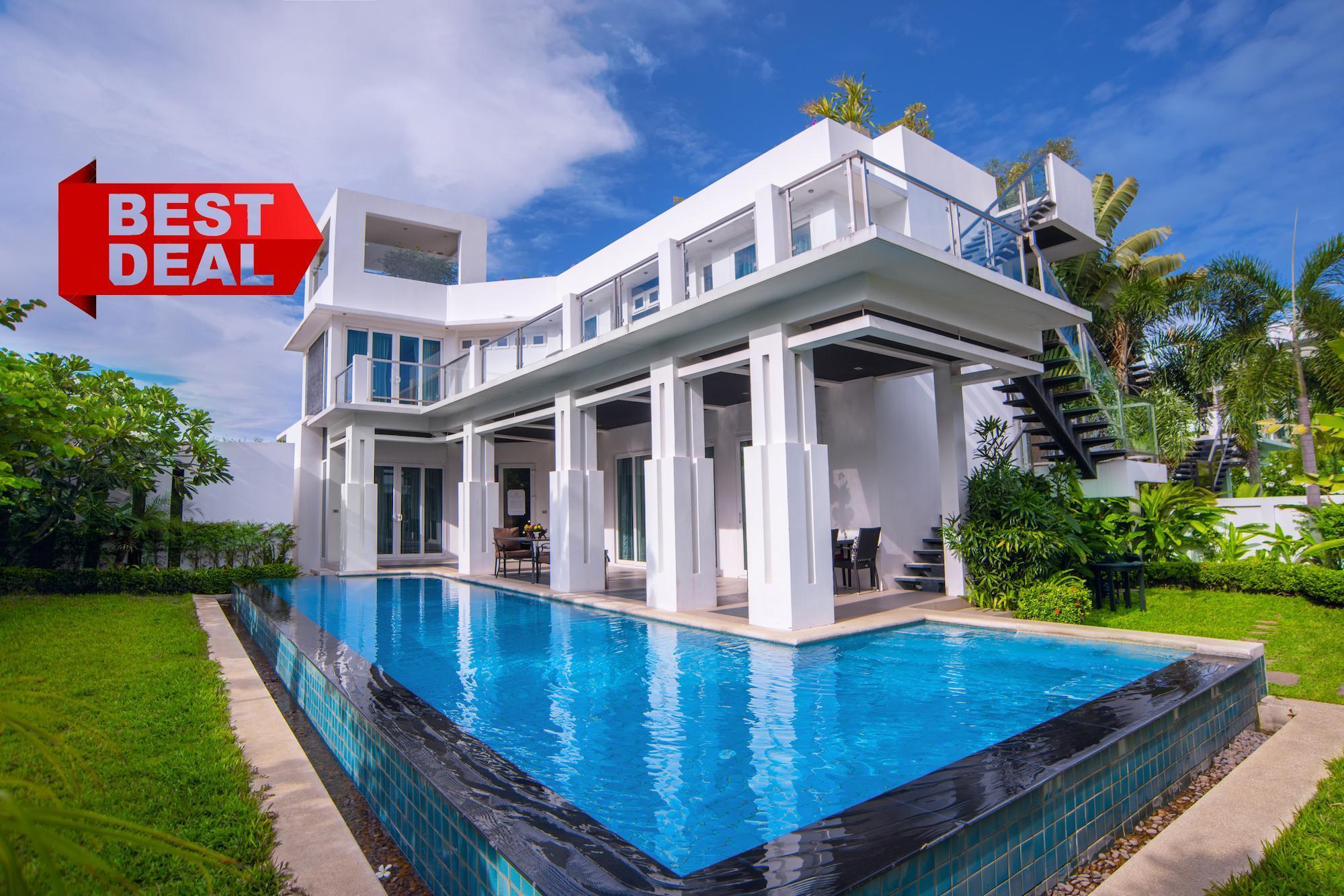 LUXURY Pool Villa Pattaya 4 bedroom, Palm Oasis วิลลา 4 ห้องนอน 4 ห้องน้ำส่วนตัว ขนาด 530 ตร.ม. – หาดจอมเทียน