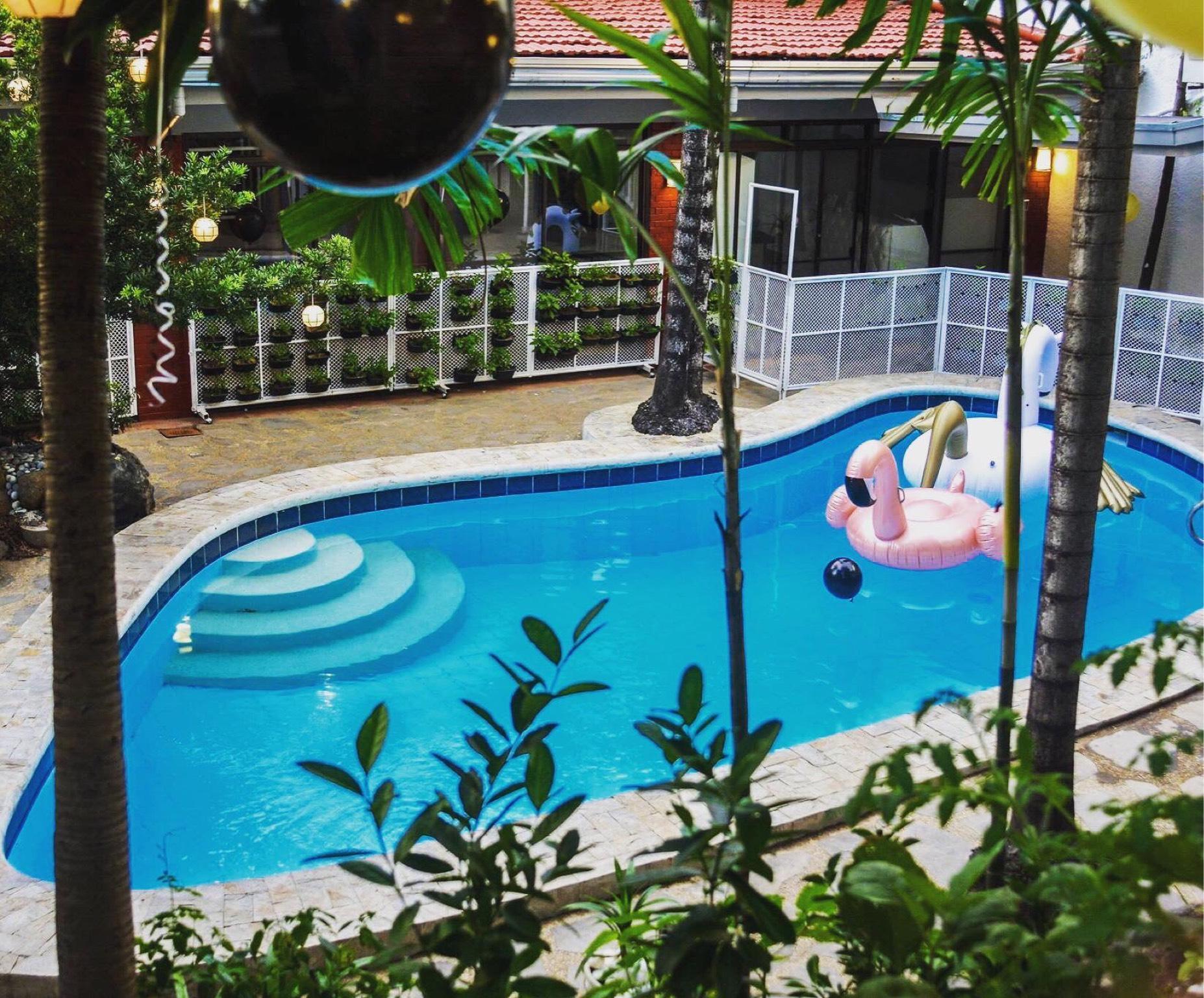 Private Swimming Pool Farm Garden With Open Gazebo