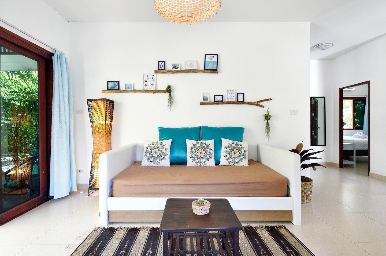 Two-bedroom house in tropical garden Green Pepper บ้านเดี่ยว 2 ห้องนอน 2 ห้องน้ำส่วนตัว ขนาด 85 ตร.ม. – หาดพระแอะ