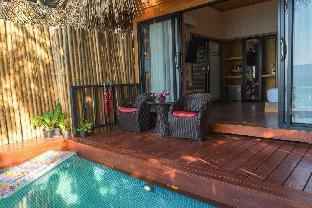[サンセットビーチ]バンガロー(35m2)| 1ベッドルーム/1バスルーム Private pool bungalow with Seaview on privateBeach
