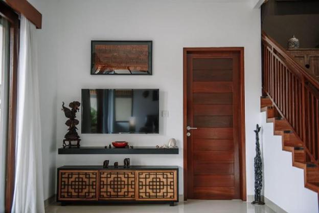 Villa sawah,a room with balcony
