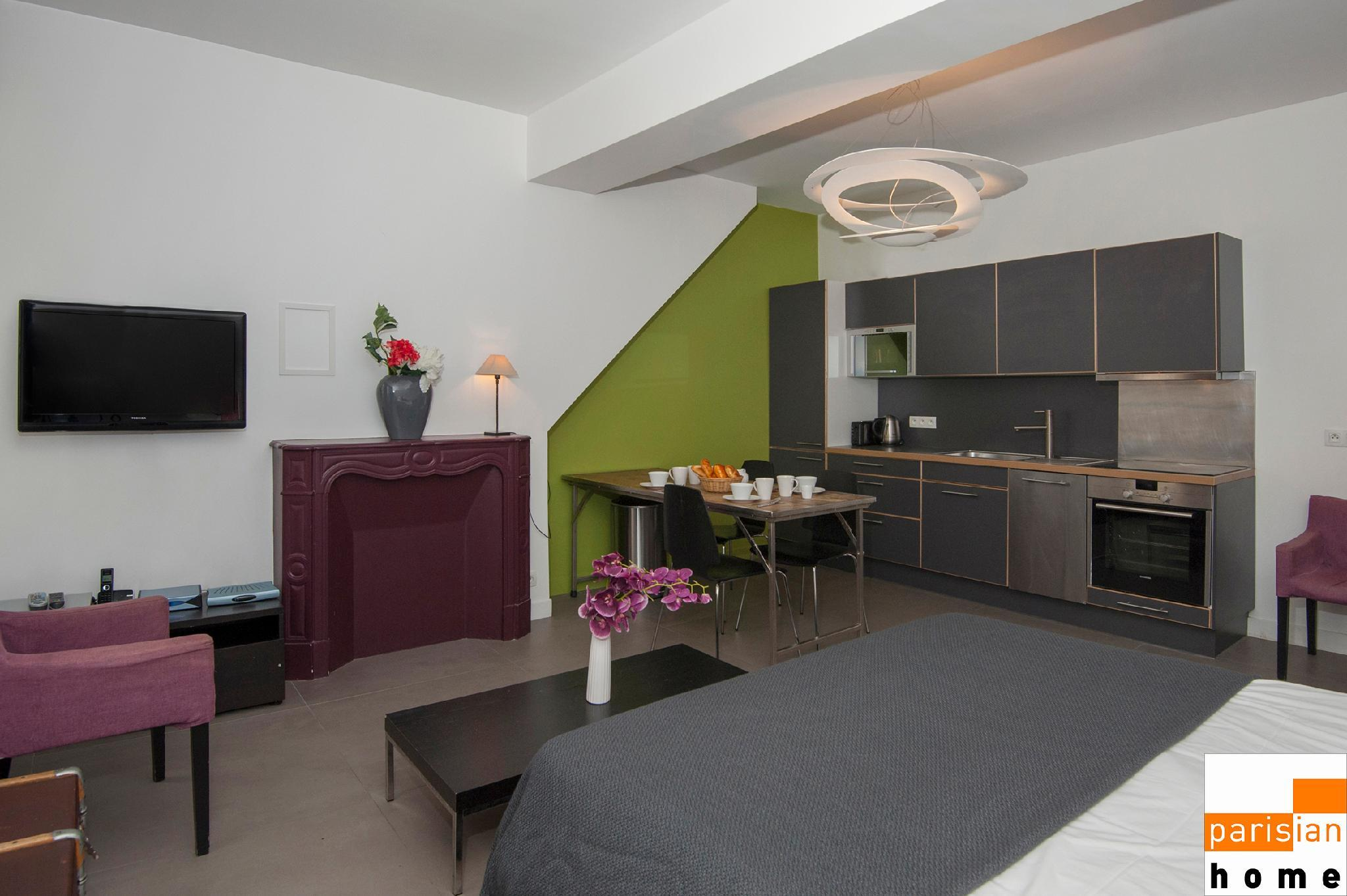 102409 - Comfortable apartment for 4 people in the Montorgueil area