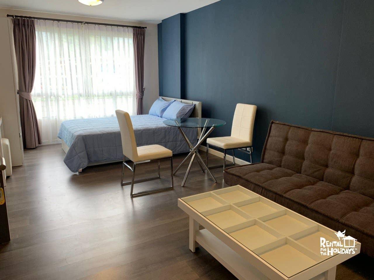1 STU @ DCondo Campus Resort Kuku by FlatMonthly สตูดิโอ อพาร์ตเมนต์ 1 ห้องน้ำส่วนตัว ขนาด 30 ตร.ม. – กะทู้