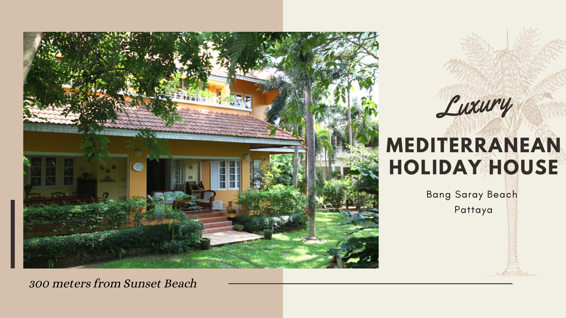 300m to beach - Luxury Mediterranean Holiday House บ้านเดี่ยว 5 ห้องนอน 4 ห้องน้ำส่วนตัว ขนาด 100 ตร.ม. – บางสเหร่