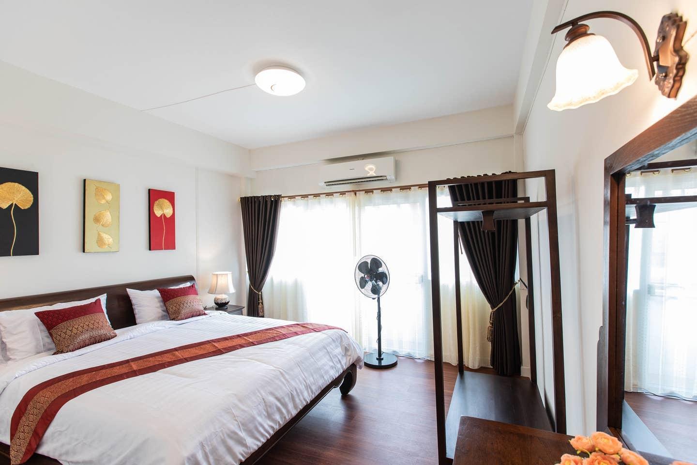 Isaree House near Night Bazaar, Night Market บ้านเดี่ยว 4 ห้องนอน 4 ห้องน้ำส่วนตัว ขนาด 60 ตร.ม. – ช้างคลาน