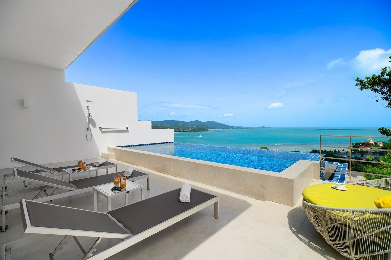 Luxury Sea View Pool Villa V uniQue Residences วิลลา 3 ห้องนอน 3 ห้องน้ำส่วนตัว ขนาด 90 ตร.ม. – เชิงมน