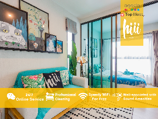 [Ratchada]アパートメント(30m2)| 1ベッドルーム/1バスルーム [hiii]GlassForest|InfinityPool|Ramkhamhaeng-BKK228