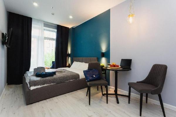 Vincent Blue Апартаменты с кроватью «queen-size» Moscow