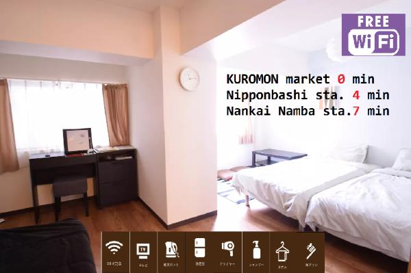 S&W 1 Bedroom Apt near Kuromon Market 202 Osaka