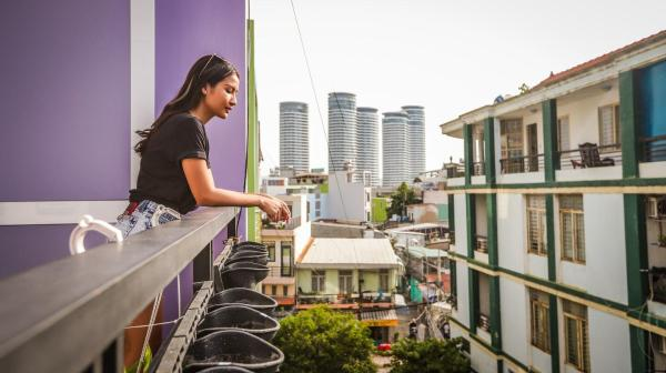 Peaceful studio with balcony 3mins to Vinhomes #5 Ho Chi Minh City