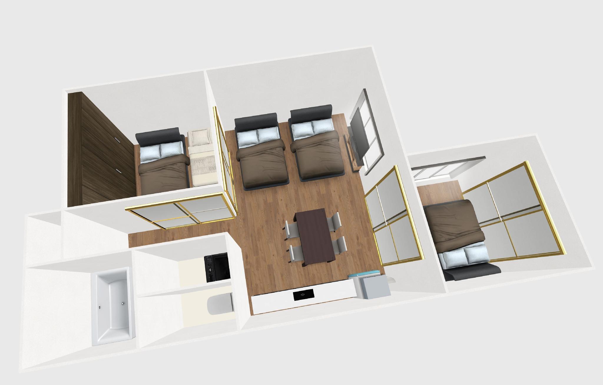 73bnb Hotel Apartment Ebisucho  3