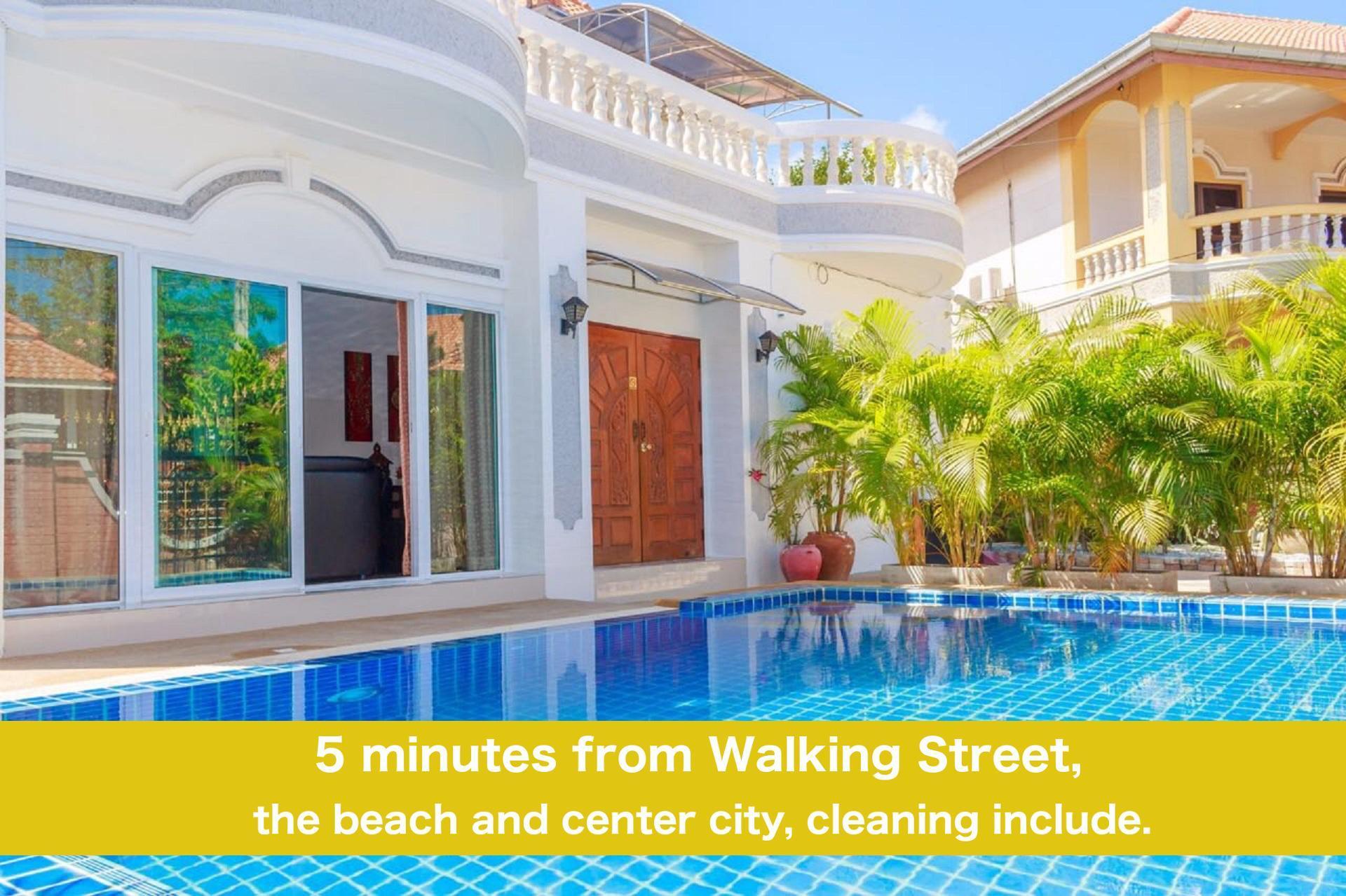Pool Villa 6 Bedrooms 5 Min Walking Street And Beach