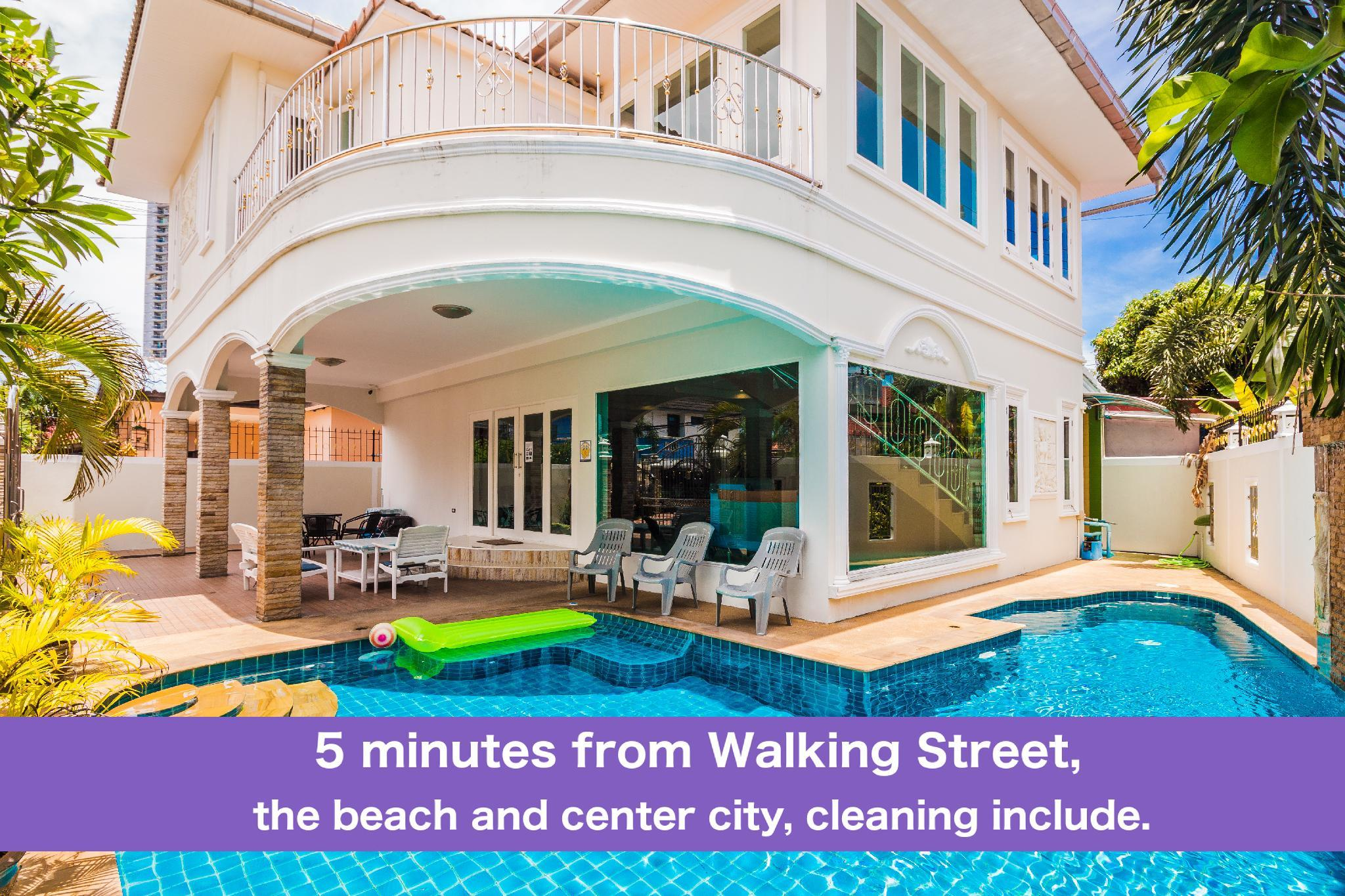 Pool Villa 4 Bedrooms Tewaree 5 Min Walking Street