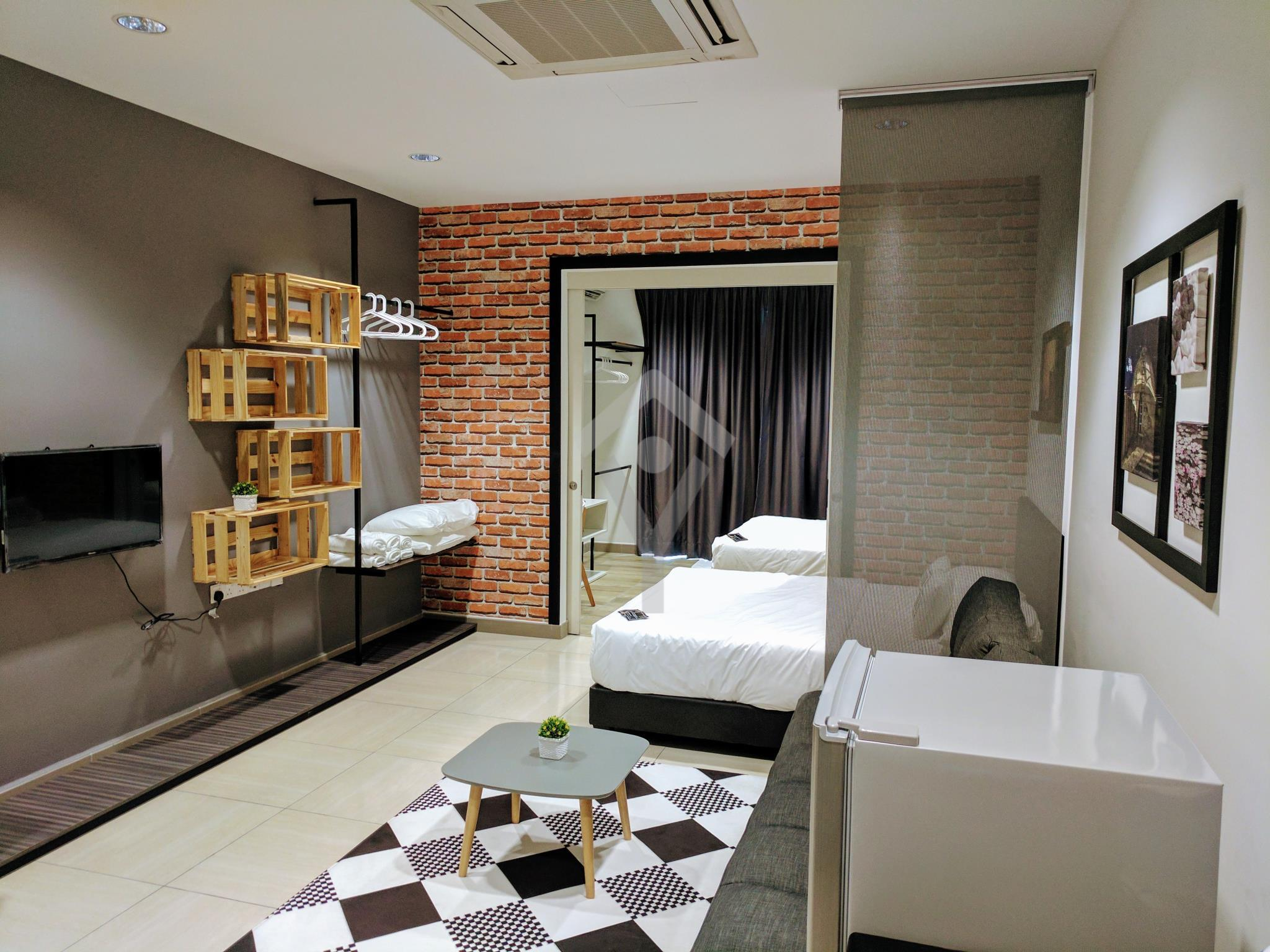 HomestayIpoh Octagon Studio Room With 2 Queen Bed