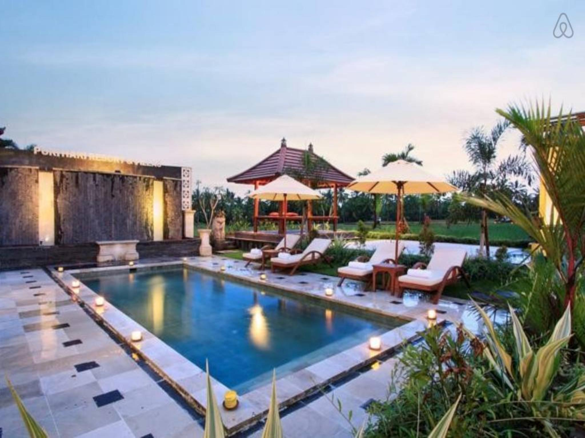 Review 1 BR Luxury Suites Rooms Ricefield View at Ubud