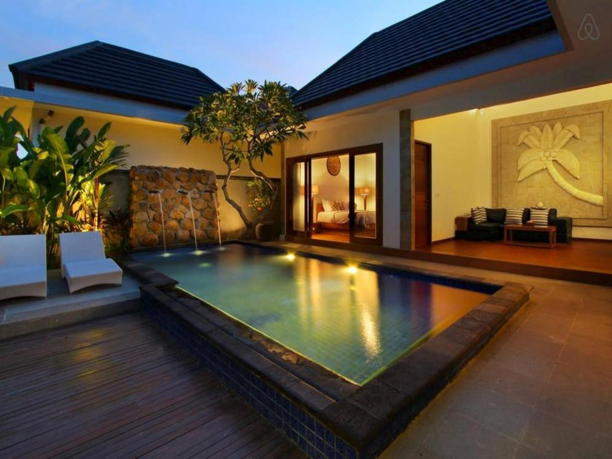 Private Pool View Villa Set Amid Tropical Gardens In The Seminyak Area