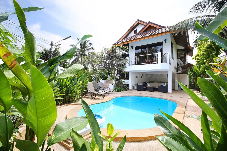 Baan Suksan Private Pool + Garden 400m To Beach.