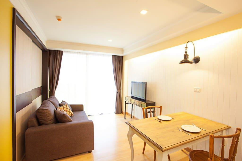 1 Bedroom Apartment With SofaBed@Rocco HuaHin 4D