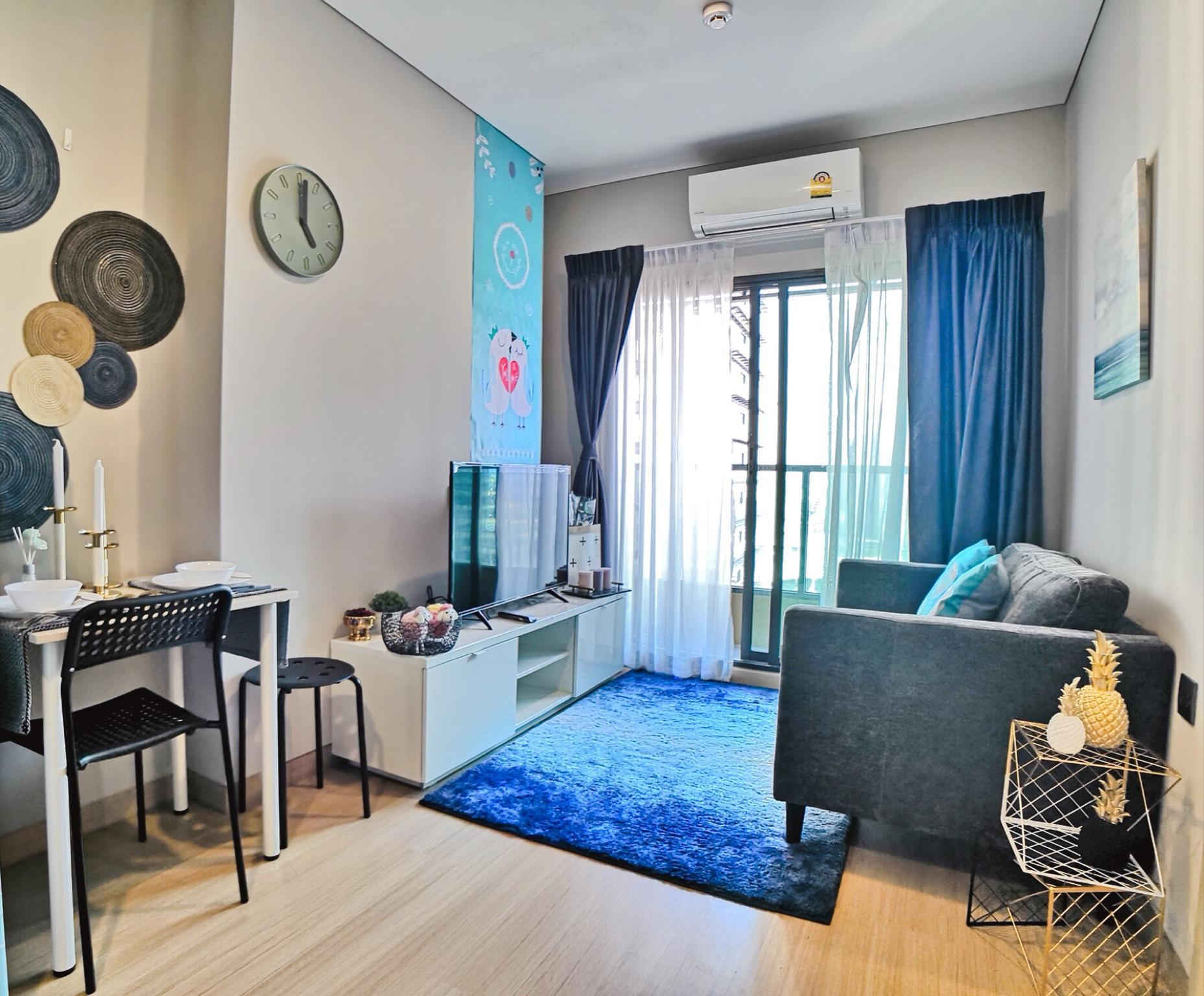 One bed Apt @MRT Phetchaburi and Airport Rail Link อพาร์ตเมนต์ 1 ห้องนอน 1 ห้องน้ำส่วนตัว ขนาด 27 ตร.ม. – รัชดาภิเษก