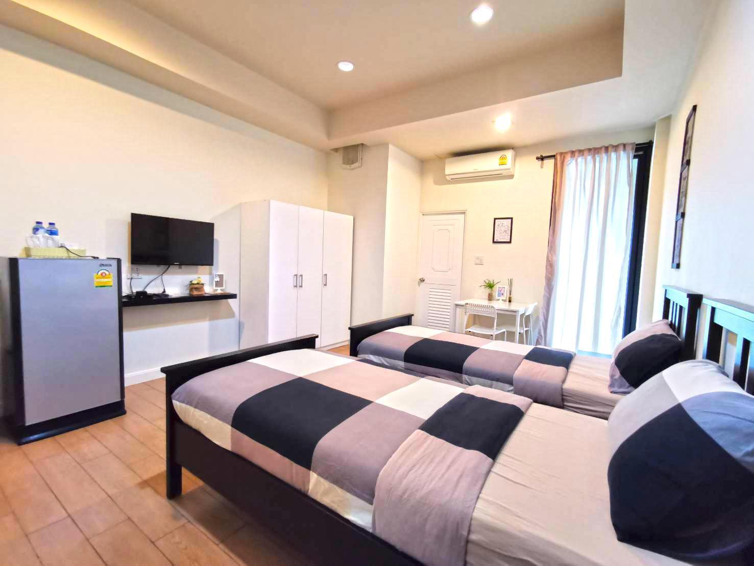 Superior Twin bed for 2 Adults สตูดิโอ อพาร์ตเมนต์ 1 ห้องน้ำส่วนตัว ขนาด 32 ตร.ม. – บางแสน
