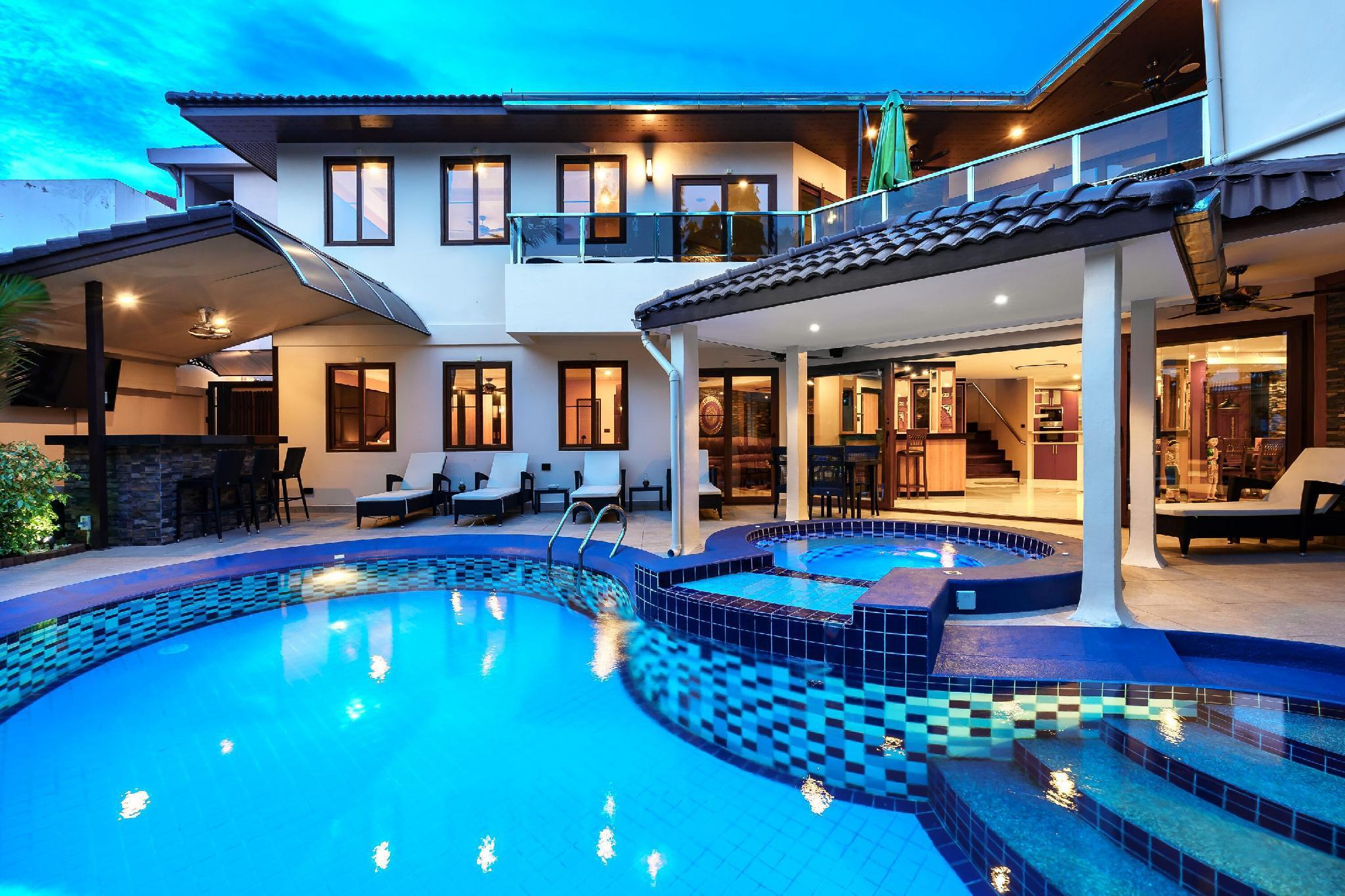 Luxury Pool Villa T1 Near Walking Street 4+1 BR วิลลา 5 ห้องนอน 6 ห้องน้ำส่วนตัว ขนาด 600 ตร.ม. – เขาพระตำหนัก