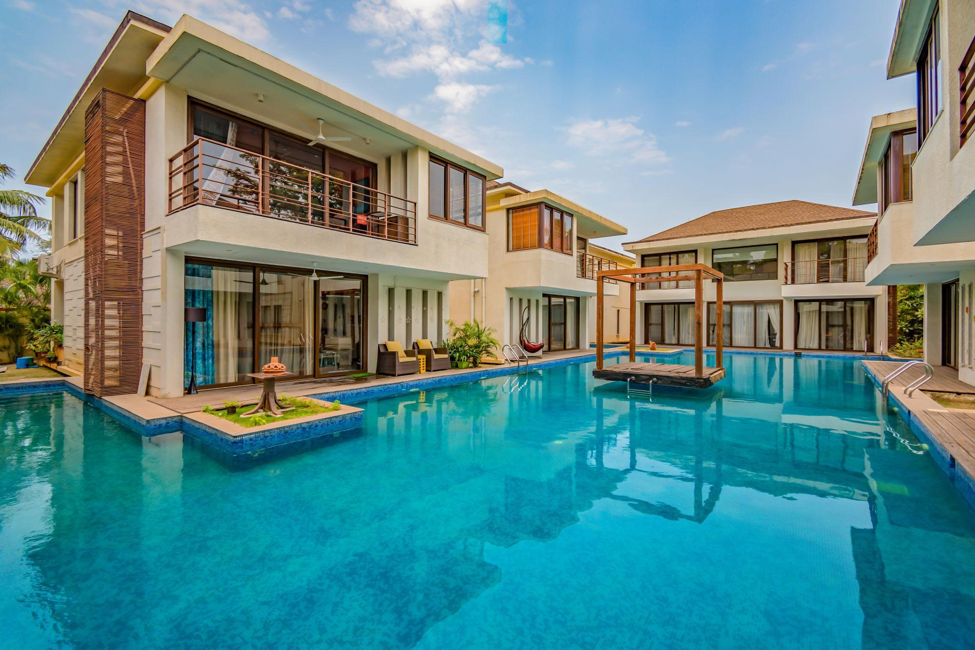 Serviced Villa With Pool In Vagator 73565