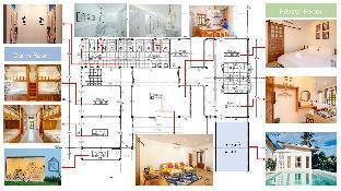 [ウォーターフロント]アパートメント(25m2)  1ベッドルーム/1バスルーム Rak Arun House  (King Room with Garden view)
