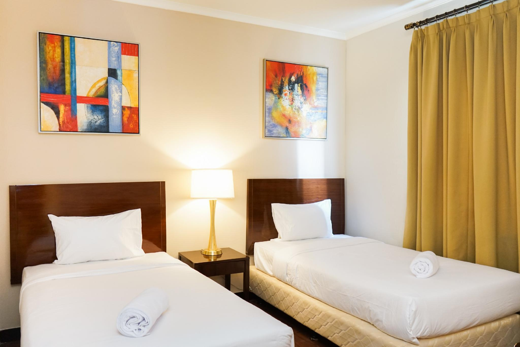 Comfortable Ancol Marina 1BR Twin Bed By Travelio