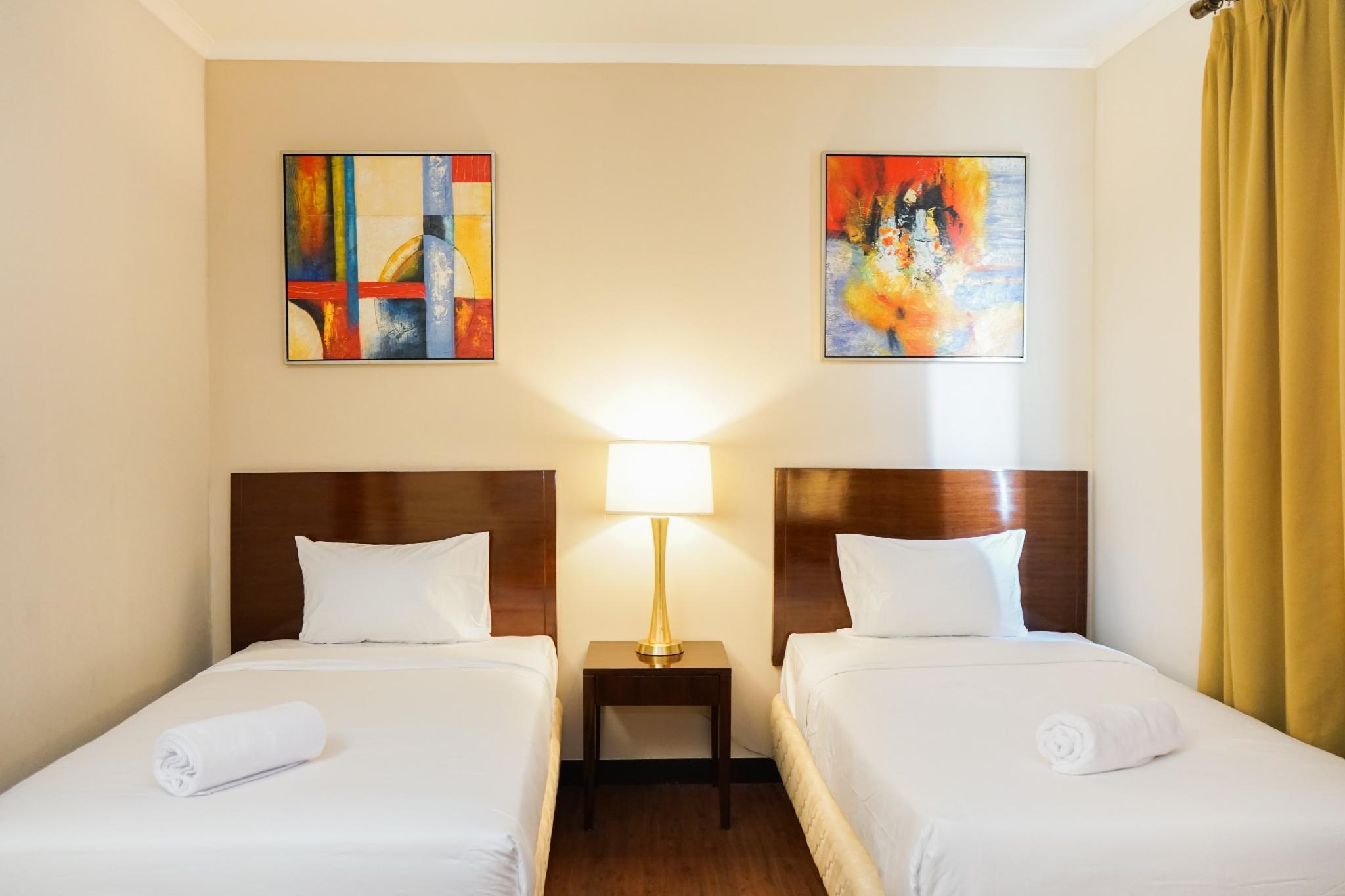 Private Ancol Marina 1BR Twin Bed By Travelio