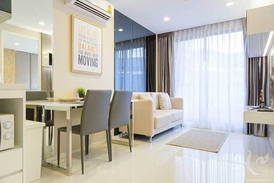 One-bedroom apartment in the heart of Pattaya! อพาร์ตเมนต์ 1 ห้องนอน 1 ห้องน้ำส่วนตัว ขนาด 39 ตร.ม. – พัทยากลาง