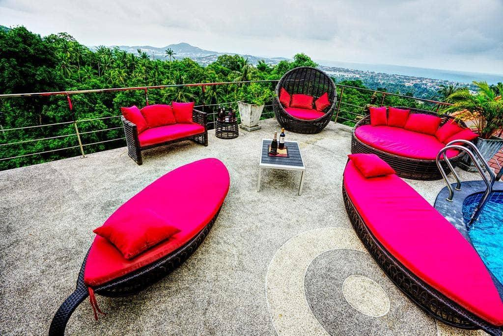 7 Bedroom Twin Sea View Villas Chaweng Noi