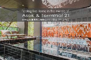 [スクンビット]アパートメント(80m2)| 2ベッドルーム/2バスルーム Asok BTS/MRT Terminal 21 Luxury 2BR/2Bath 6 PAX