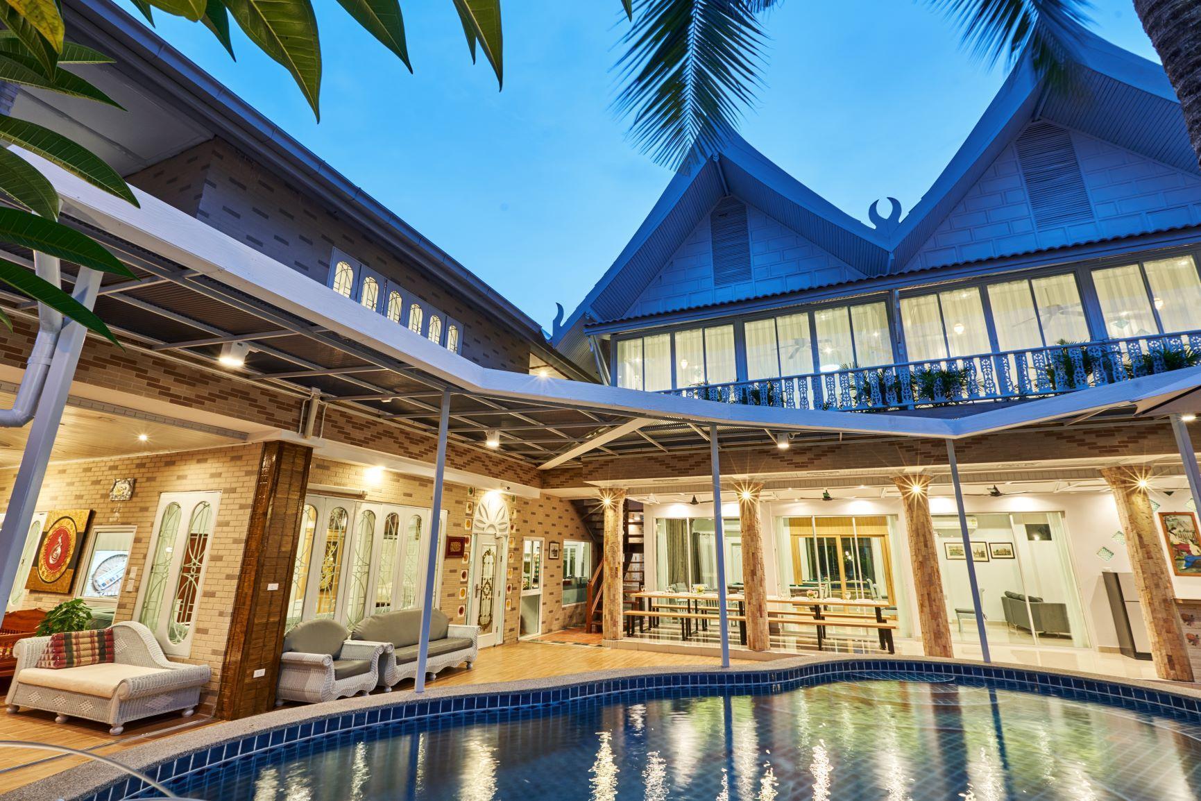 Siam Gala l 8 BR 8-20People/Party Room,Pool,Sauna วิลลา 8 ห้องนอน 9 ห้องน้ำส่วนตัว ขนาด 1000 ตร.ม. – พัทยาใต้