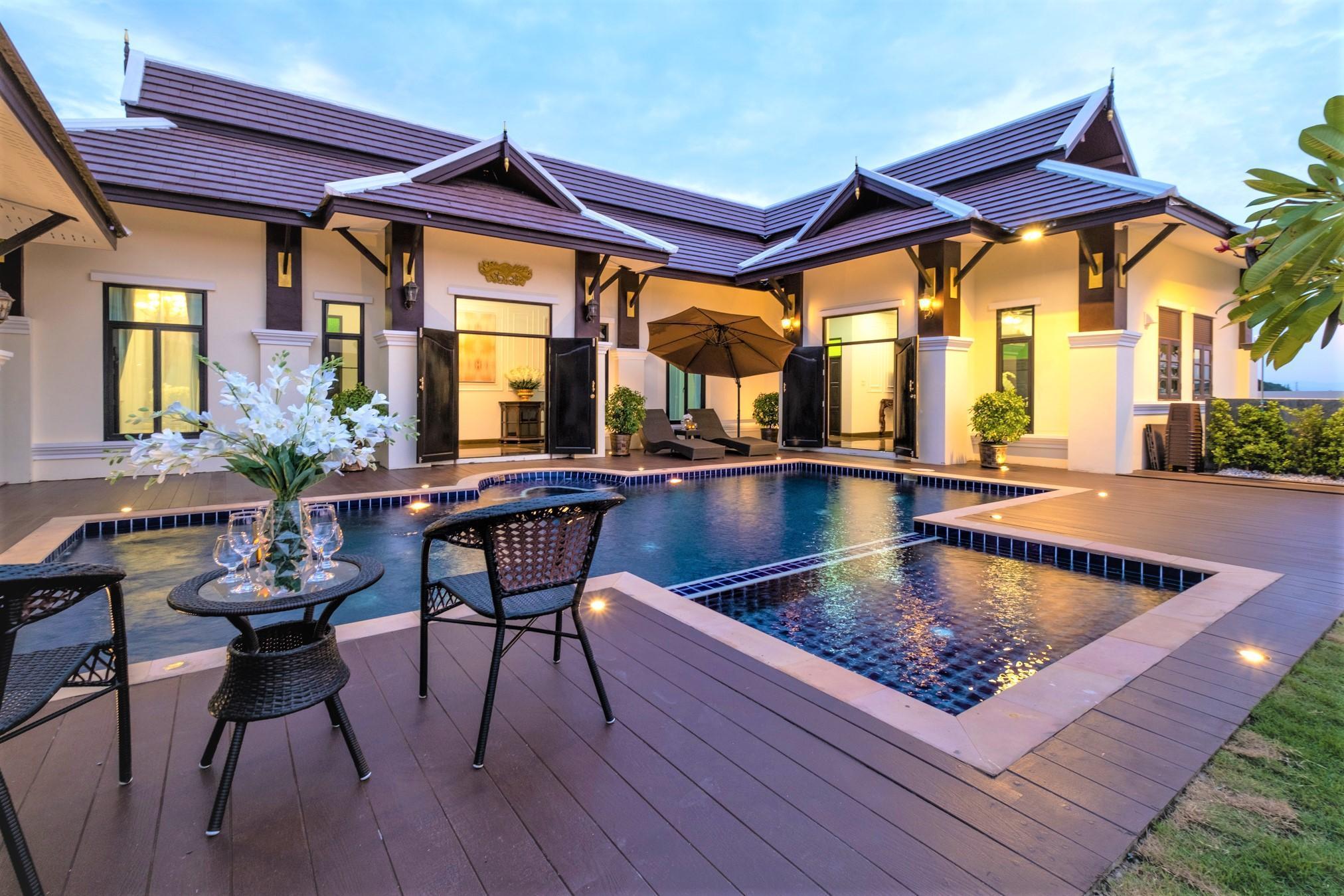 Lanna Kamin Pool Villa @Airport 4 ห้องนอน 5 ห้องน้ำส่วนตัว ขนาด 880 ตร.ม. – สนามบินเชียงใหม่
