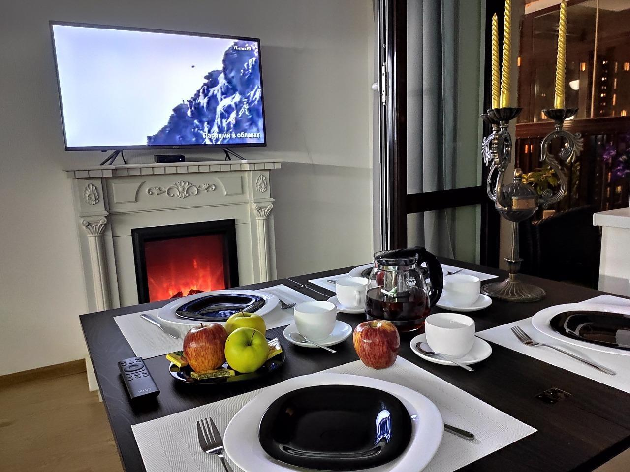 Stylish Comfortable EuroTwo Bedroom With Fireplace