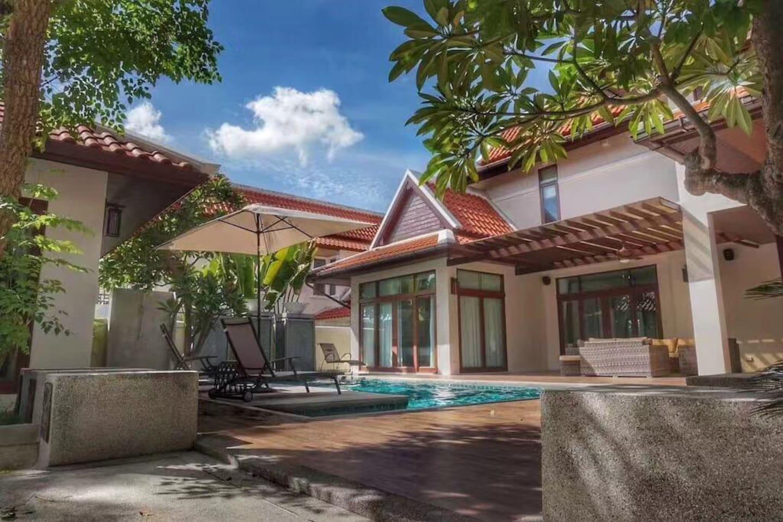 Super Luxury Pool Villa 5bedrooms Near Supermarket