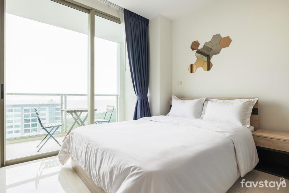 Chic and Ideally Studio Close to Wongamat Beach สตูดิโอ อพาร์ตเมนต์ 1 ห้องน้ำส่วนตัว ขนาด 30 ตร.ม. – หาดวงอมาตย์