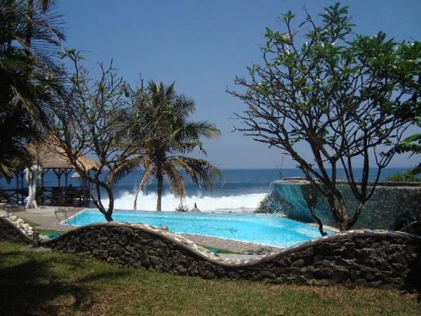 The Famous VillaArjuna sea view Bungalows and pool Bali