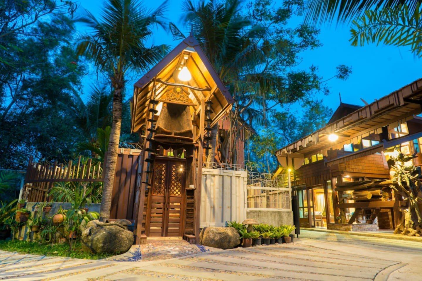Suankaew Art Cottage (ReuanTonkaew) 1 ห้องนอน 1 ห้องน้ำส่วนตัว ขนาด 30 ตร.ม. – ศรีราชา