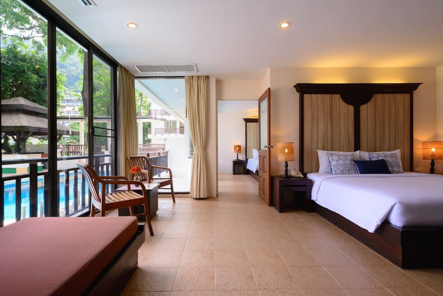 Peaceful Two Bedrooms Suite @ Patong Lodge Hotel.