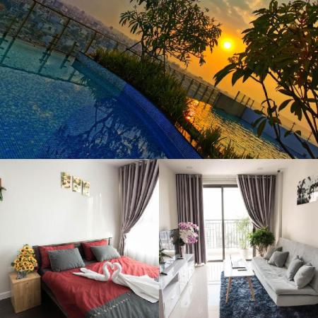 Penthouse King Beds @ Airport w/Pools+Gym+Yoga+BBQ Ho Chi Minh City