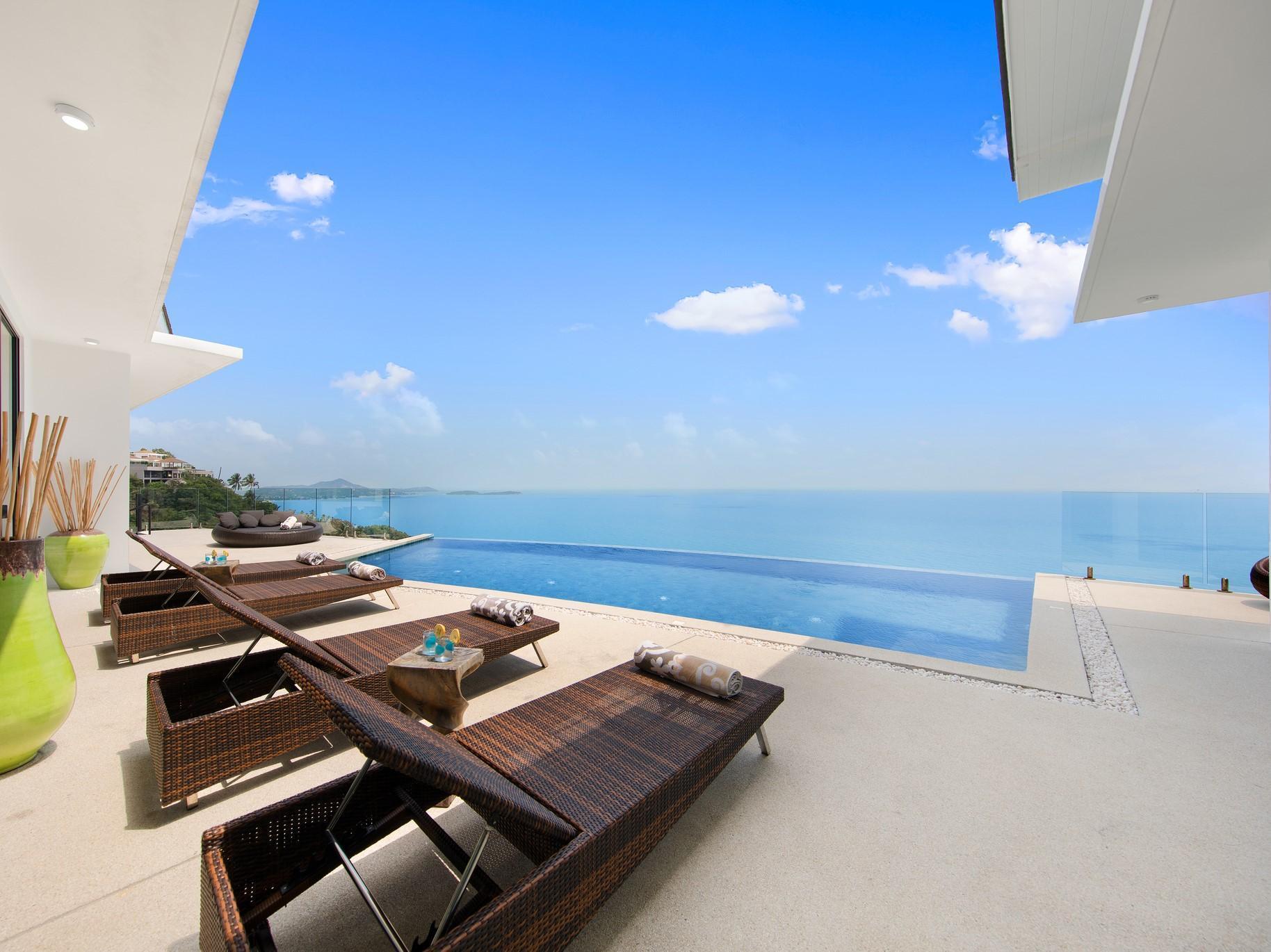 Luxurious Sunny Moon Villa - 10 Rooms - 20 Guests วิลลา 10 ห้องนอน 10 ห้องน้ำส่วนตัว ขนาด 930 ตร.ม. – เฉวงน้อย
